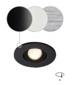 NEW TRIA MINI LED rond encastré noir 3000K 30° clips ressorts