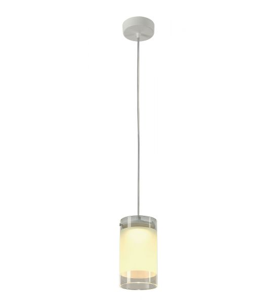 suspension led LEFA 1 PD ronde blanche, 5W LED, verre partiellementnt satiné