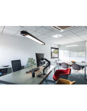 suspension led AIXLIGHT R2 OFFICE LED, noir, LED + 2xES111, max. 75W