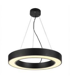 suspension MEDO 60 RING, noire, SMD LED 3000K, 35W