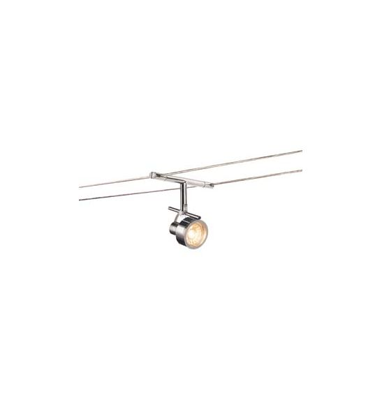 SALUNA, spot pour cable tendu, MR16, chrome