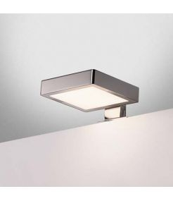 DORISA LED, luminaire de miroir carre, chrome, LED 6,6W 4000K, IP44