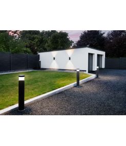 POLE PARC LED, borne exterieure, anthracitee, LED 20,5W 3000K, IP44