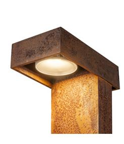 LED RUSTY PATHLIGHT 40 borne, rouille, LED 8,9W 3000K, IP55