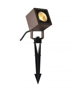 NAUTILUS 10 spot sur piquet, rouille, LED 9W 3000K, IP65, 45 degres