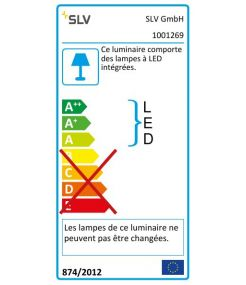 SPOT T LED, noir, 34W, 3000K, 3100lm, adaptateur 3 all inclus