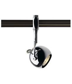 Easytec ii, chrome/noir, spot light eye gu10, chrome