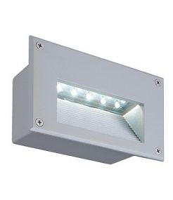 Brick 18 led, applique, gris argent, led blanc chaud