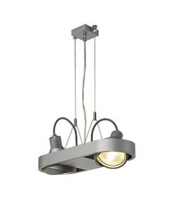 AIXLIGHT R DUO, HQI111, SUSPENSION RONDE, GRIS ARGENT , G12, max.2x70W
