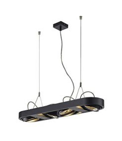 SUSPENSION RONDE NOIRE AIXLIGHT R LONG, QRB111, G53, max. 4x50W