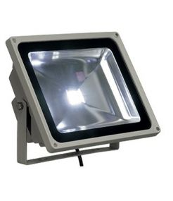 LED OUTDOOR BEAM, GRIS ARGENT, 50W, LED BLANCHE, 130°