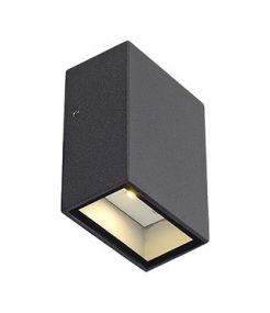 APPLIQUE QUAD 1, CARREE ANTHRACITE, LED BLANC CHAUD 1x3W