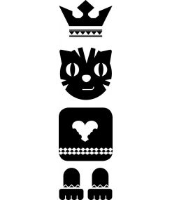 Sticker Totem Chat noir